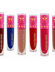 cheap -1PCS Velvet Velour Matte Liquid Lipstick Lip Gloss Lipgloss Waterproof Full-Coverage Long Lasting Not Rub Off