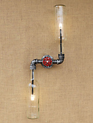 rustique / lodge laiton caractéristique ac 220-240 6 e27 pour le mur de lumière ampoule includedambient appliques murale