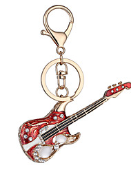 cheap -Europe And The United States New Realistic Guitar Key Chain Key Chain Bag Car Key Pendant Valentine's Day Birthday Gift Factory Direct Sales