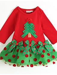 Robe Fille de Décontracté / Quotidien Imprimé / Mosaïque / Jacquard Coton / Coton Organique Toutes les Saisons Manches longues
