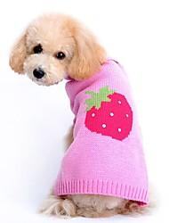 preiswerte -Katze Hund Pullover Hundekleidung Niedlich Lässig/Alltäglich Frucht Rosa Kostüm Für Haustiere