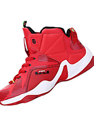 abordables -Femme-Sport-Rouge Argent Noir et Or Noir et rouge-Talon Plat-Confort-Chaussures d'Athlétisme-Polyuréthane