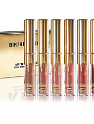 cheap -Birthday Limited Gold Edition 6 Colored Mini Lip Gloss Matte Cosmetics Lip Kit Cosmetics