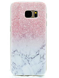 cheap -Pink Marble Pattern TPU High Purity Translucent Openwork Soft Phone Case for Samsung Galaxy S7 Edge S7 S5 S5MINI
