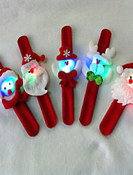 3pcschristmas avec des décorations de Noël lampe de cadeau de Noël pat cercle avec bracelet bague de lampe pops essentiels du parti (style