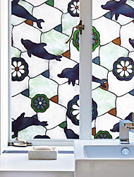 cheap -Animal Contemporary Window Film, PVC/Vinyl Material Window Decoration Dining Room Bedroom Office Kids Room Living Room Bath Room Shop