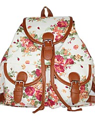 Women Bags All Seasons Canvas Backpack for Casual White Black Blushing Pink Light Green