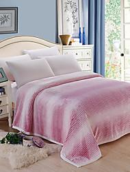baratos -Velocino de Coral,Impressão Reactiva Listrada 100% Acrílico cobertores