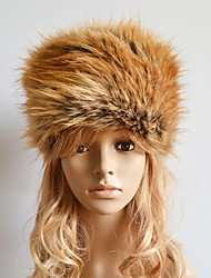 cheap -Women Faux Fur Warm Ski Hat Cute / Casual Winter Brown / Red / Khaki / Gray