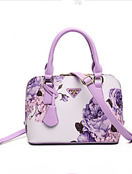 cheap -Women's Bags PU Tote for Casual All Seasons Black Purple Wine Lilac