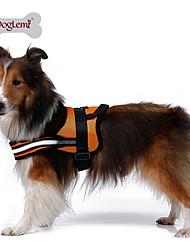 preiswerte -Hund Geschirre Reflektierend Atmungsaktiv Solide Gitter Gepolsterten Stoff Nylon Maschen Schwarz Orange Rot