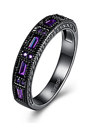 cheap -Women's Crystal / AAA Cubic Zirconia Ring - Cross Luxury, Simple Style 6 / 7 / 8 Purple / Green / Blue For Wedding / Party / Daily