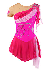 cheap -Figure Skating Dress Women's Girls' Ice Skating Dress Spandex Rhinestone Appliques Lace Sequined Tulle High Elasticity Performance