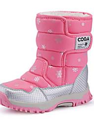 Girl's Boots Fall / Winter Comfort PU Casual Flat Heel Black / Pink / Purple Sneaker