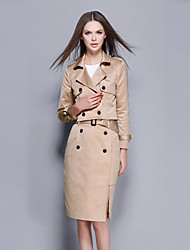 cheap -YBKCP Women's Going out / Daily / Party/Cocktail Vintage / Sophisticated Fall / Winter T-shirt Skirt Suits
