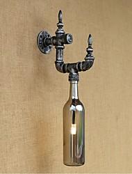 AC 220V-240V 3W e27 a nostalgia retro com interruptor café bar restaurante corredor lâmpada de parede garrafa de tubulação de água