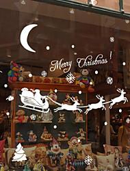 Недорогие -снежинки палевого рождественские наклейки стены 18 * 60см случайный цвет