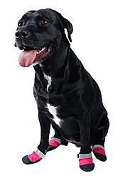 4pcs/lot Rubber Medium Large Dog Boots Casual Sports Dog Shoes Pet Slip-Resistant Waterproof Shoes