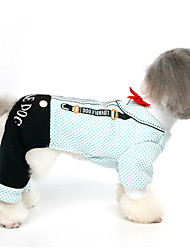 cheap -Dog Jumpsuit Dress Dog Clothes British Black Blue Cotton Costume For Pets Men's Women's Fashion Wedding