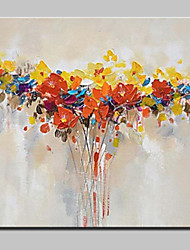 Hand Painted Modern Abstract Flower Oil Painting On Canvas Wall Art Picture For Home Decoration With Stretched Frame Ready To Hang