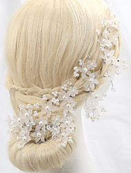 cheap -Crystal Imitation Pearl Alloy Flowers 1 Wedding Special Occasion Outdoor Headpiece