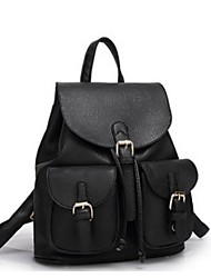 Women Backpack Cowhide Casual White Black Fuchsia Blushing Pink Light Green