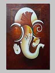abordables -Pintada a mano Animal Pinturas de óleo,Modern Un Panel Lienzos Pintura al óleo pintada a colgar For Decoración hogareña