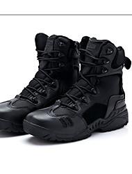 Недорогие -Черный Бежевый-Для мужчин-Для прогулок Для занятий спортом-Кожа-На низком каблуке-Удобная обувь-Ботинки