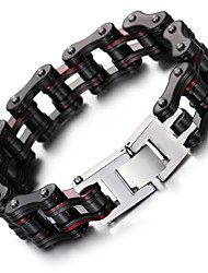 cheap -Men's Chain Bracelet - Stainless Steel Fashion Bracelet Black For Christmas Gifts / Party / Anniversary