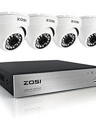 zosi®8ch 720p ahd DVR 4pcs 1.0MP Home-Security-Kamera-System