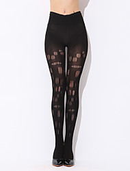 cheap -Women Thin Hollow Perspective High Waist Sexy Nightclub Stockings