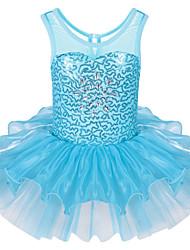 cheap -Girl's Sports Dress All Seasons Sleeveless Ruffle Light Blue