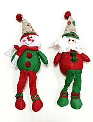 Natale ornamenti pupazzo di neve&2pcs Babbo Natale