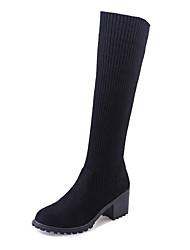 economico -Da donna Stivaletti Anfibi Cashmere Inverno Casual Footing Anfibi A quadri Quadrato Plateau Heel di blocco Nero 2,5 - 4,5 cm