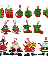 abordables -Tarjetas y Cartas de Navidad Árboles de Navidad Juguetes Disfraces de Santa Papel Piezas Chico Chica Navidad Carnaval Regalo
