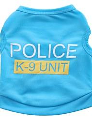 preiswerte -Katze Hund T-shirt Hundekleidung Niedlich Lässig/Alltäglich Polizei / Militär Schwarz Rose Blau Rosa Kostüm Für Haustiere