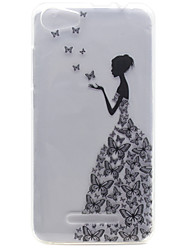 cheap -For Wiko Lenny 2 Lenny 3 Little Girl Pattern High Permeability TPU Material Phone Shell for Pulp Fab 4G