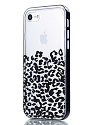 cheap -Case For Apple iPhone 8 iPhone 8 Plus iPhone 5 Case iPhone 6 iPhone 7 Transparent Pattern Back Cover Leopard Print Soft TPU for iPhone 8