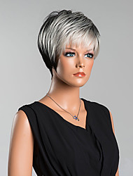 cheap -New Arrival Smart Short Straight Capless Wigs High Quality Human Hair Mixed Color