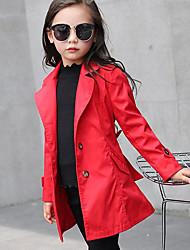 preiswerte -Mädchen Anzug & Blazer-Lässig/Alltäglich einfarbig Baumwolle Frühling / Herbst Rosa / Rot / Grau