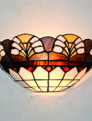 cheap -30cm Retro Country Tiffany Wall Lights Glass Shade Living Room Bedroom Restaurant Cafe Bar Wall Sconces