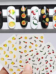 3pcs Nail Art Sticker Decalques de transferência de água maquiagem Cosméticos Prego Design Arte