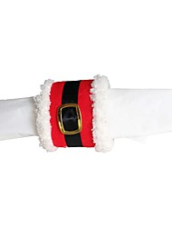 1pc noël ornement ceinture noël anneau boucle de serviette