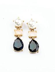 European Luxury Gem Geometric Earrrings Exaggerated Waterdrop Drop Earrings for Women Fashion Jewelry Best Gift