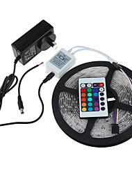 Недорогие -5 метров Наборы ламп / RGB ленты 300 светодиоды 1 пульт дистанционного управления 24Keys / 1 адаптер питания x 2A RGB Можно резать / / 12