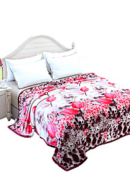 Thickening of the Mink Wool Blanket  Upgraded Flannel Blanket   Bedding Set