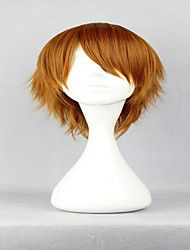 cheap -Axis Powers Rovino Vargas 32cm Short Brown Synthetic Man Cosplay Wigs