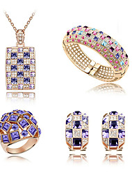 cheap -Women's Jewelry Set Crystal Fashion Daily Rings Earrings Necklaces Bracelets & Bangles