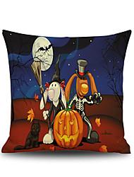 Halloween Night Animals Bunny Square Linen  Decorative Throw Pillow Case Kawaii Cushion Cover