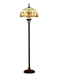 cheap -Tiffany Floor Lamp with 3 Lights
